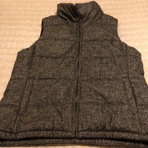 Old Navy Women's Vest-black/white herringbone